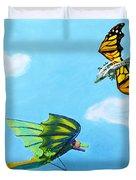 Dragon And Kite Duvet Cover