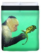 Dragon And Monkey Duvet Cover