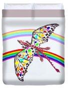 Dragon And Rainbow Duvet Cover