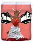Dragon And Strawberry Duvet Cover