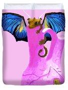 Dragon And Vase Duvet Cover