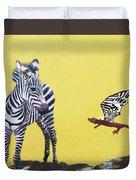 Dragon And Zebra Duvet Cover