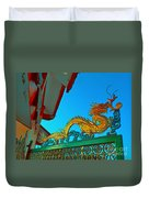 Dragon At The Gate Duvet Cover