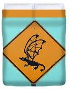 Dragon Crossing Duvet Cover