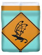 Dragon Crossing Duvet Cover