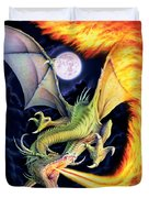 Dragon Fire Duvet Cover