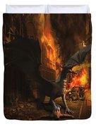 Dragon Flame Duvet Cover by Solomon Barroa