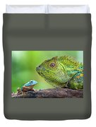Dragon Forest And Frog Duvet Cover