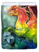 Dragon Horse Duvet Cover