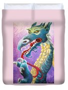 Dragon In Dots Duvet Cover