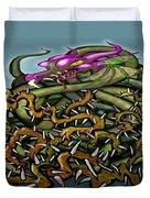 Dragon In Thorns Duvet Cover
