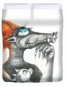 Dragon Mom Duvet Cover