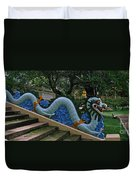 Bao Tang Temple Railing In Ho Chi Minh City Duvet Cover