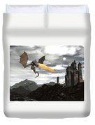 Dragon Scenery - 3d Render Duvet Cover