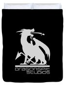 Dragon Spit Studios Logo Duvet Cover