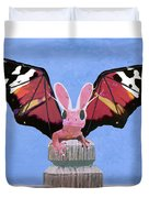 Dragon With Bunny Ears Duvet Cover