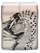 Dragon - Zentangle 16-04 Duvet Cover