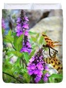 Dragonflies In Summer Duvet Cover