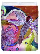 Dragonfly And Mum Duvet Cover