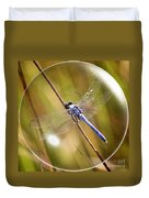 Dragonfly In A Bubble Duvet Cover