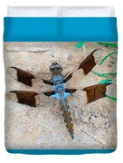 Dragonfly In The Sand Duvet Cover