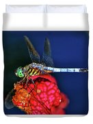 Dragonfly On A Pitcher Plant 009 Duvet Cover