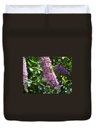 Dragonfly On The Butterfly Bush Duvet Cover