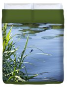 Dragonfly On The Lake Duvet Cover
