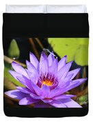 Dragonfly On Water Lily Duvet Cover