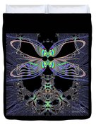 Dragonfly Queen At Midnight Fractal 161 Duvet Cover