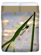 Dragonfly Resting Upside Down Duvet Cover