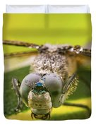 Dragonfly Wiping Its Eyes Duvet Cover