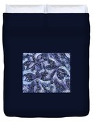 Dragons In Blue Mosaic Duvet Cover
