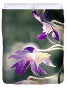 Dragons In The Orchids Duvet Cover