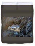 Dragons Teeth Salt Point California Duvet Cover