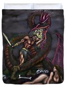Dragonslayer N Damsel Duvet Cover