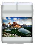 Drama Of The Canadian Rockies 3 Duvet Cover