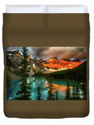 Drama Of The Canadian Rockies Duvet Cover