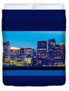 Dramatic Boston Skyline  Duvet Cover