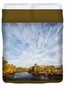 Dramatic Clouds Over Boise River In Boise Idaho Duvet Cover