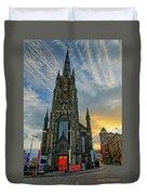 Dramatic Edinburgh Sunset At The Hub In Scotland  Duvet Cover