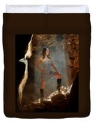 Dramatic Fashion Pose Duvet Cover