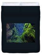Dramatic Fluorescent Green Algae Duvet Cover by Mathieu Meur