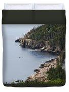 Dramatic Maine Coastline Duvet Cover