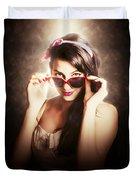 Dramatic Pin Up Fashion Photograph Duvet Cover