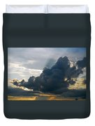 Dramatic Sky With Crepuscular Rays Duvet Cover