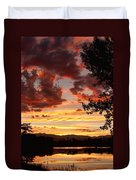 Dramatic Sunset Reflection Duvet Cover