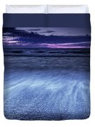 Dramatic Sunset Scenery Of Lake Huron Duvet Cover