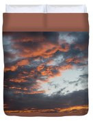 Dramatic Sunset Sky With Orange Cloud Colors Duvet Cover