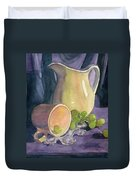 Drapes And Grapes Duvet Cover